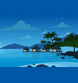hotel on tropical beach vector image vector image