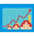 houseing price go up vector image vector image