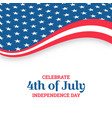 independence day design holiday in united states vector image vector image