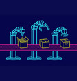 industrial robot arm vector image
