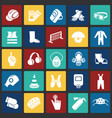 industrial safety signs set on color squares vector image