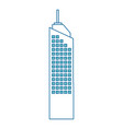 isolated city tower vector image
