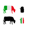 Italian milk cow vector image vector image