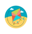 Kite flat icon vector image