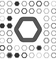 Line hexagon logo design set vector image vector image
