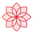 lotus flat icon flower pink icons in trendy flat vector image