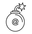 mail bomb icon outline style vector image vector image