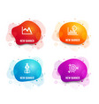 manager report timer and line chart icons target vector image vector image