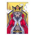 monkey king mascot logo design vector image