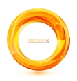 Orange abstract geometry ring vector image