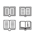 Outline book icons vector image