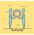 people teamwork cooperation solution business vector image vector image