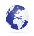 planet earth color vector image vector image