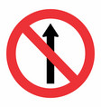 prohibited way traffic sign vector image vector image