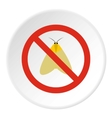Prohibition sign moth icon flat style vector image vector image