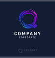 q company logo design with visiting card vector image
