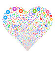 quality fireworks heart vector image vector image