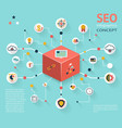 SEO Infographic Icon Concept vector image