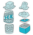 set of ice vector image vector image