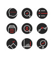 set of round assessment and report logo vector image vector image