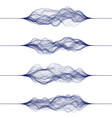 set sound waves made lines vector image vector image