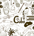 Sketch Cuban seamless pattern vector image