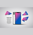 smartphone banner minimalistic flat vector image