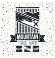 Snowboard winter mountains emblem vector image vector image