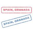 spain granada textile stamps vector image vector image
