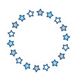 stars round ornament vector image vector image