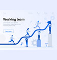 teamwork interaction efficiency business template vector image vector image