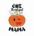 thanksgiving emblem t shirt design one thankful vector image vector image