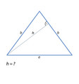 the task of finding the height of an isosceles vector image vector image