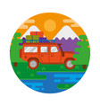 travel truck car vector image vector image