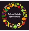 Vegetable circle background Fruits and vector image vector image