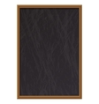 Vertical empty wooden chalk board vector image vector image