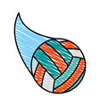 volleyball ball icon image vector image vector image