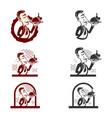 waitress restoration logo vector image vector image