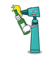 with beer otoscope mascot cartoon style vector image vector image