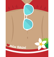 woman body in swimsuit vector image vector image
