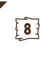 wooden alphabet blocks with number 8 in wood vector image vector image