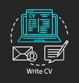 write cv concept chalk icon resume curriculum vector image vector image