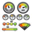 credit score gauge icon set vector image