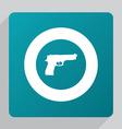 flat gun icon vector image