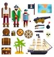 Pirate symbols vector image