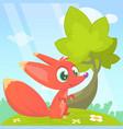 cute cartoon fox character vector image