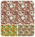 seamless flowers pattern set of vector image