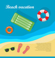 summertime and beach vacation posters vector image
