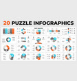 20 puzzle infographic templates for your vector image