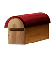 A wooden mailbox vector image vector image